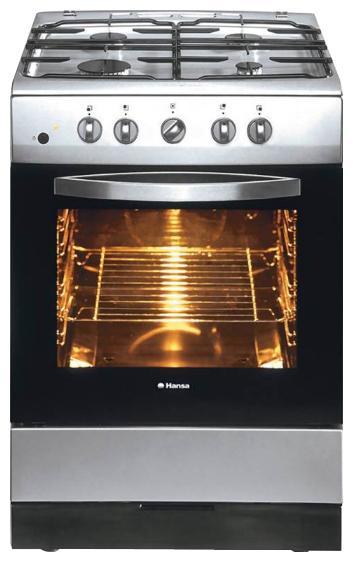 Газовая плита HANSA FCGX66001010,  газовая духовка,  серебристый