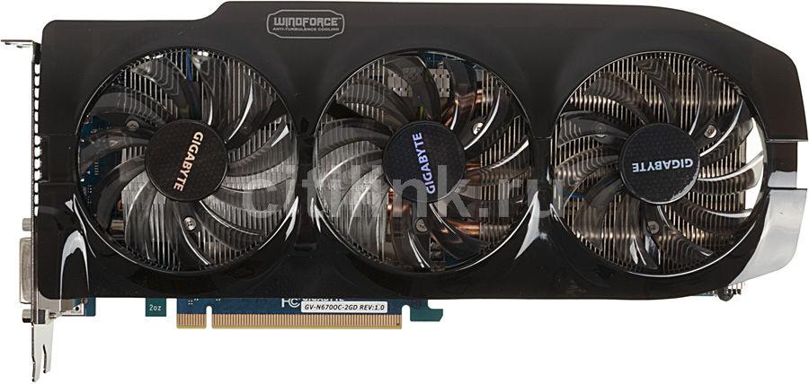Видеокарта GIGABYTE nVidia  GeForce GTX 670 ,  2Гб, GDDR5, OC,  Ret [gv-n670oc-2gd]