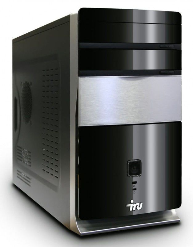 Компьютер  IRU Corp 710,  Intel  Core i7  2600K,  DDR3 4Гб, 500Гб,  Intel HD Graphics 2000,  DVD-RW,  CR,  Windows 7 Professional,  черный и серебристый