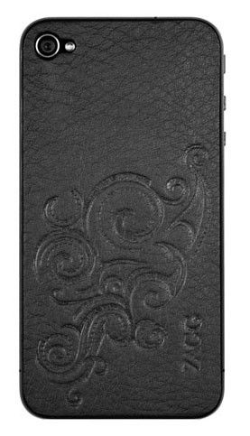 Наклейка ZAGG LSBLKFLZL73  для Apple iPhone 4/4S,  1 шт, черный