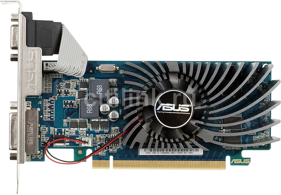 Видеокарта ASUS GeForce GT 620,  1Гб, DDR3, Low Profile,  Ret [gt620-1gd3-l]