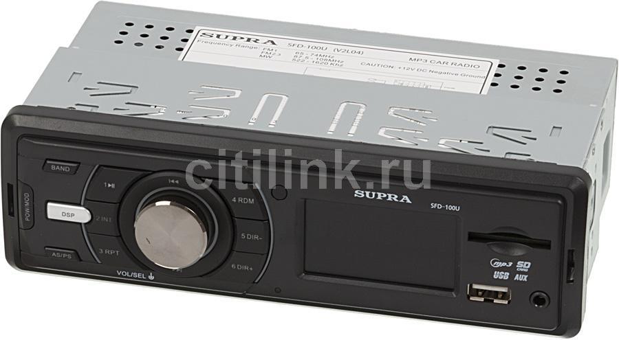 Автомагнитола SUPRA SFD-100U,  USB,  SD/MMC