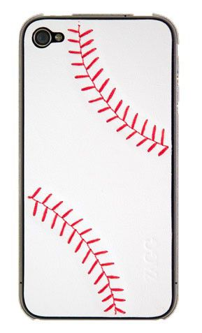 Наклейка ZAGG LSWHTBAS73 baseball  для Apple iPhone 4/4S,  1 шт, белый