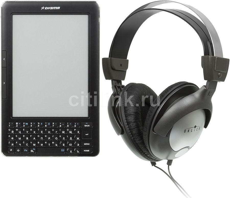 """Электронная книга DIGMA S602 +Oklick HP-M212V,  6"""", черный"""