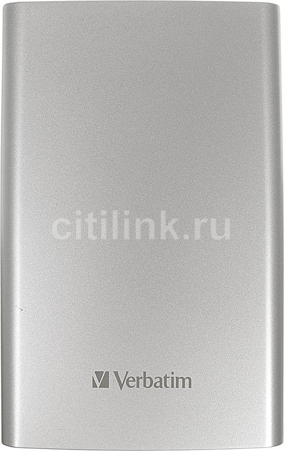 Внешний жесткий диск VERBATIM Store n Go 53032, 1Тб, серебристый