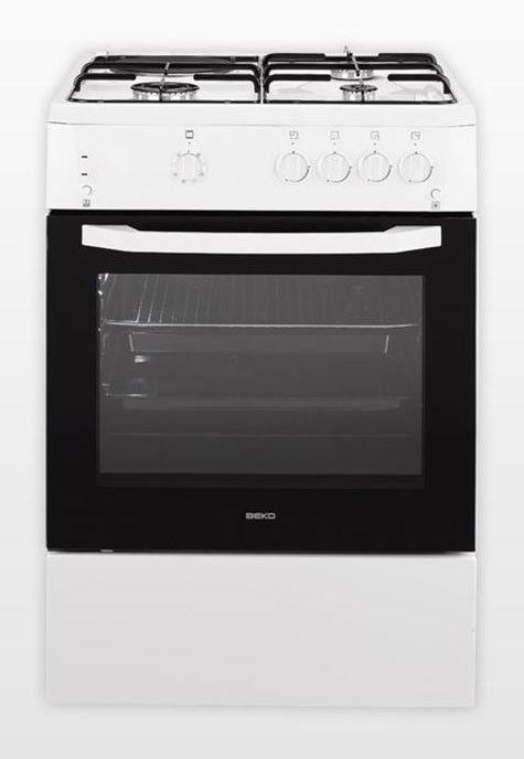 Газовая плита BEKO CSG63010 GW,  газовая духовка,  белый [csg 63010 gw]