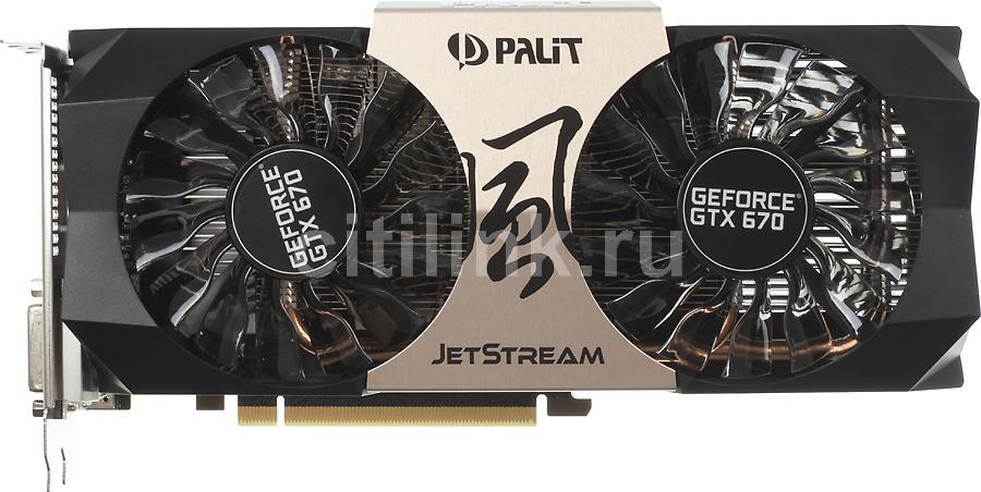 Видеокарта PALIT GeForce GTX 670,  2Гб, GDDR5, OC,  Ret [ne5x670h1042-104xj]