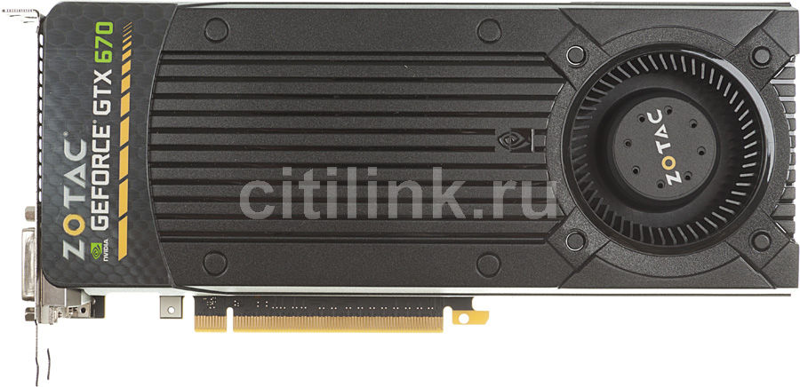 Видеокарта ZOTAC GeForce GTX 670,  2Гб, GDDR5, Ret [zt-60301-10p]