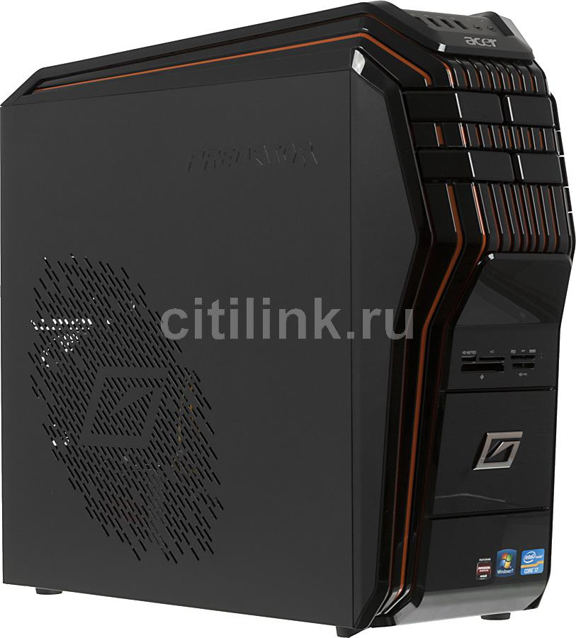 Компьютер  ACER Aspire Predator G5920,  Intel  Core i7  3770K,  DDR3 8Гб, 1000Гб,  64Гб(SSD),  AMD Radeon HD 7950 - 3072 Мб,  DVD-RW,  CR,  Windows 7 Home Premium,  черный и оранжевый [dt.sjner.005]
