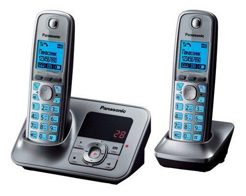 Радиотелефон PANASONIC KX-TG6622RUM,  серый металлик