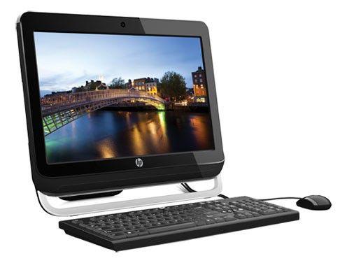 Моноблок HP Omni 120-1203er, Intel Celeron G540, 2Гб, 500Гб, Intel HD Graphics, DVD-RW, Free DOS, черный [b7h05ea]