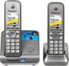 Радиотелефон PANASONIC KX-TG6712RUM,  серый металлик вид 1