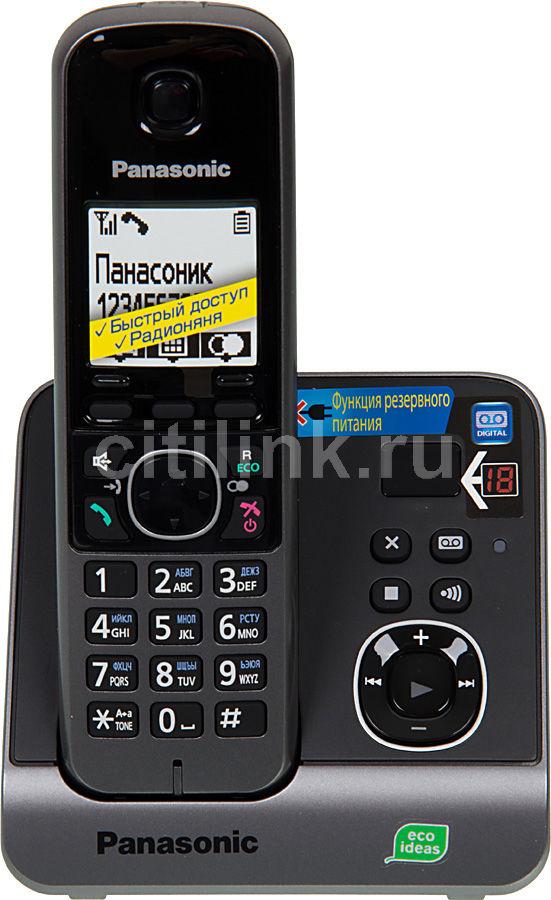Радиотелефон PANASONIC KX-TG6721RUB,  черный