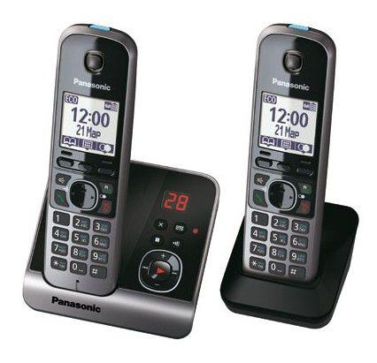 Радиотелефон PANASONIC KX-TG6722RUB,  черный