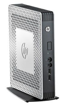 Тонкий клиент  HP t610,  AMD  T56N,  DDR3 2Гб, 1Гб(SSD),  AMD Radeon HD 6320,  без ODD,  HP ThinPro,  серебристый и черный [h1y31aa]