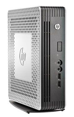 Тонкий клиент  HP t610 PLUS,  AMD  T56N,  DDR3 2Гб, 1Гб(SSD),  AMD Radeon HD 6320,  без ODD,  HP ThinPro,  серебристый и черный [h1y33aa]