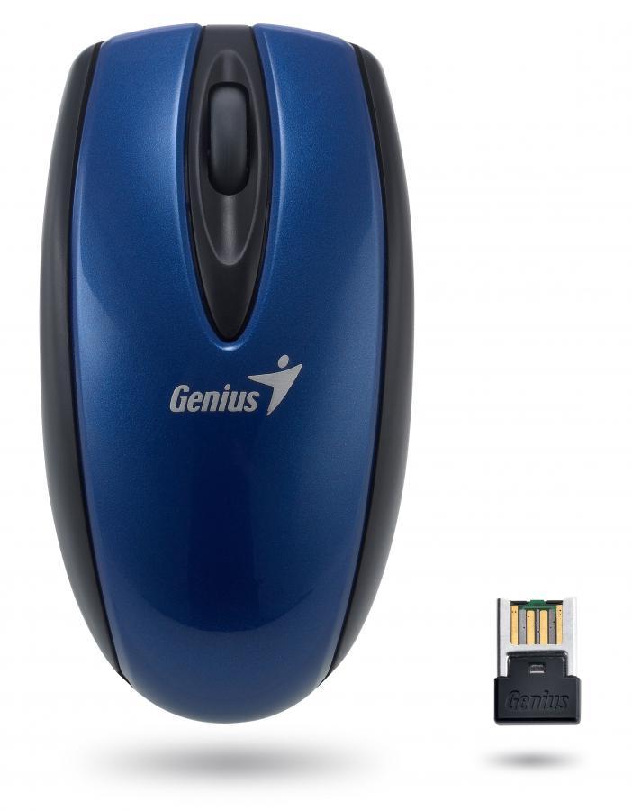 Мышь GENIUS Mini Navigator 900 оптическая беспроводная USB, синий [31030046104]