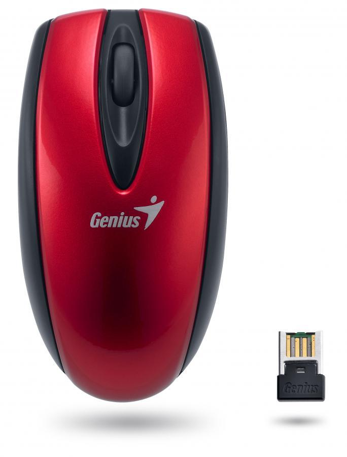 Мышь GENIUS Mini Navigator 900 оптическая беспроводная USB, красный [31030046103]
