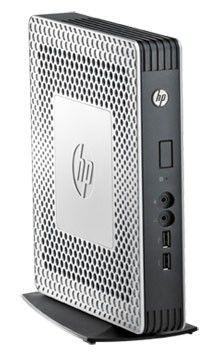 Тонкий клиент  HP t610,  AMD  T56N,  DDR3 2Гб, 4Гб(SSD),  AMD Radeon HD 6320,  без ODD,  Windows Embedded Standard 7,  серебристый и черный [h1y50aa]