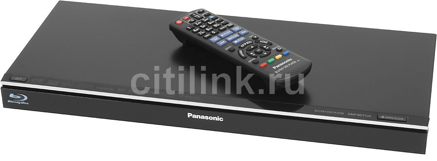 Плеер Blu-ray PANASONIC DMP-BDT120, черный [dmp-bdt120ee]