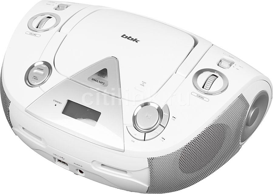 Аудиомагнитола BBK BX318U,  белый