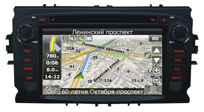 Автомагнитола VELAS V-FMGb,  Ford Mondeo (07+), Focus II (07-11), S-Max (06+), Galaxy III (06+),  USB,  SD