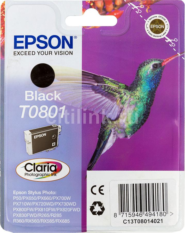 Картридж EPSON T0801, черный [c13t08014011]