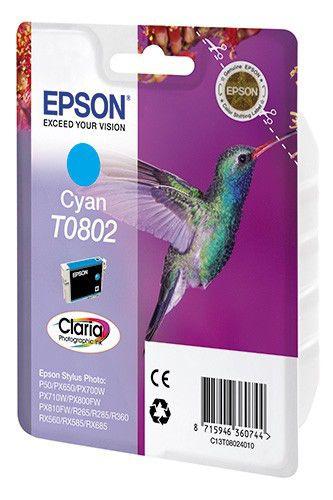 Картридж EPSON T0802 голубой [c13t08024011]