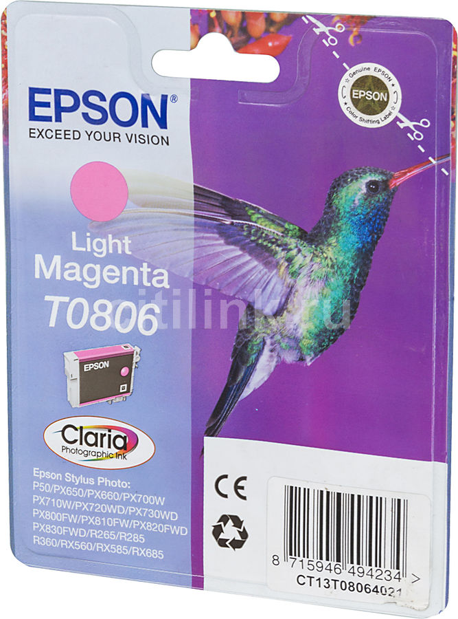 Картридж EPSON T0806 светло-пурпурный [c13t08064011]