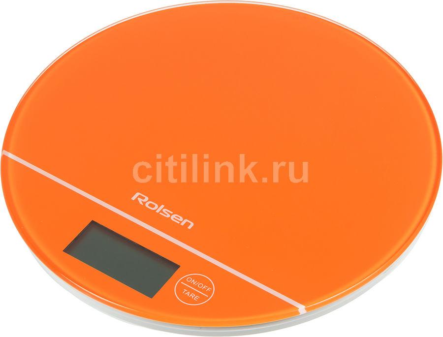 Весы кухонные ROLSEN KS-2906,  оранжевый
