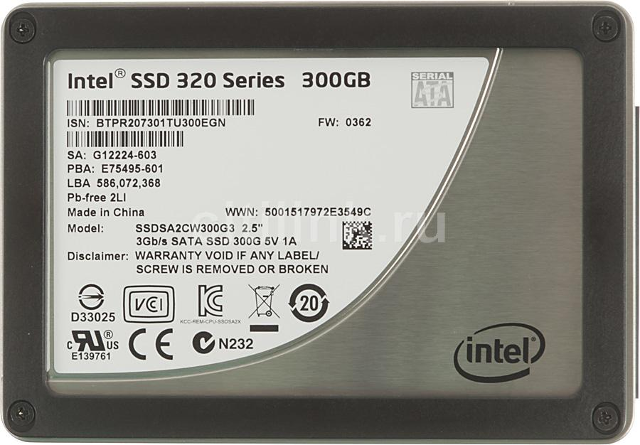 "Накопитель SSD INTEL 320 Series SSDSA2CW300G310 300Гб, 2.5"", SATA II [ssdsa2cw300g310 913235]"