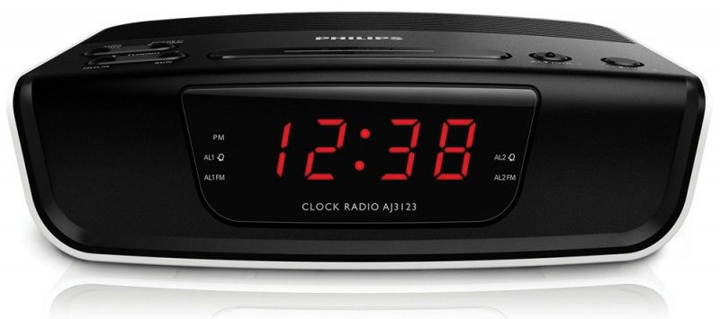 Радиобудильник PHILIPS AJ3123/12, черный