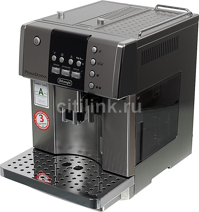 Кофемашина DELONGHI PrimaDonna Avant ESAM6600,  серебристый