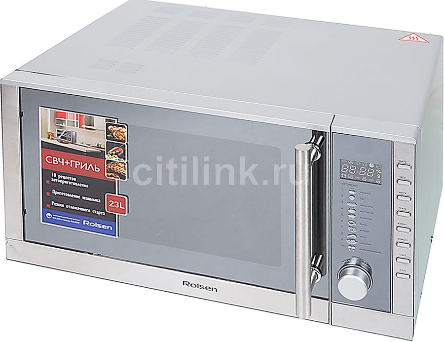 Микроволновая печь ROLSEN MG2380TD, серебристый