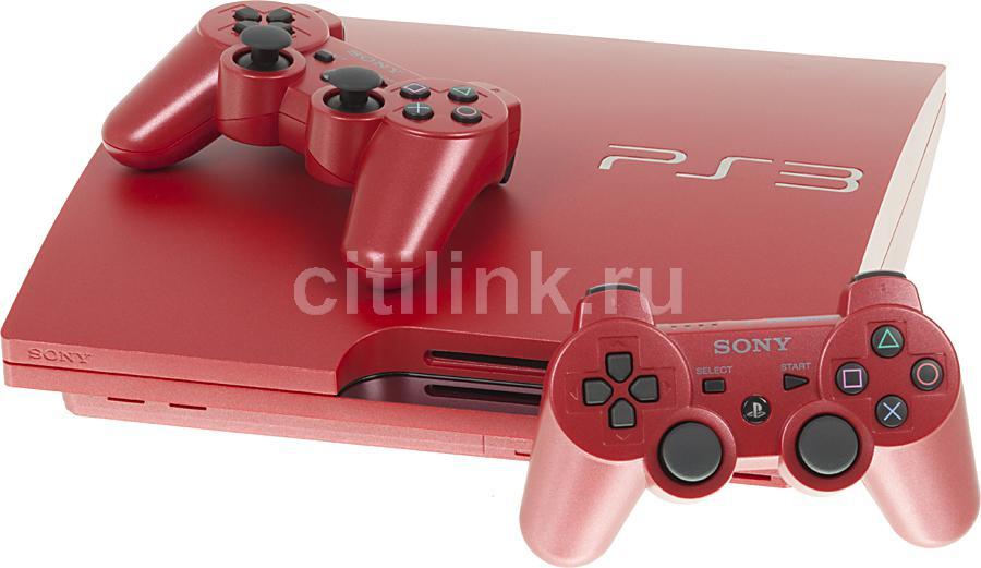 Игровая консоль SONY PlayStation 3 PS719235736, красный