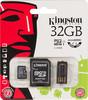 Карта памяти microSDHC KINGSTON 32 ГБ, Class 10, MBLY10G2/32GB,  1 шт., переходник SD вид 1