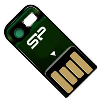 Флешка USB SILICON POWER Touch T02 16Гб, USB2.0, зеленый [sp016gbuf2t02v1n]