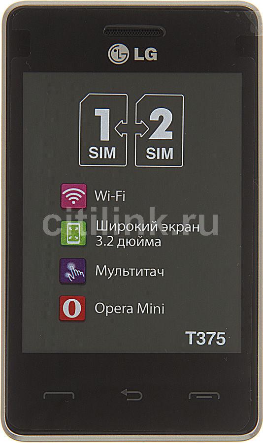 Мобильный телефон LG T375  черный/белый