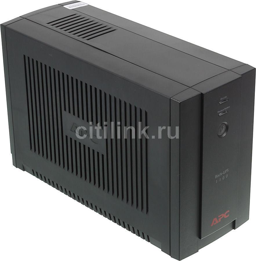 Источник бесперебойного питания APC Back-UPS BX1100CI-RS 660Вт 1100ВА черный(Б/У)