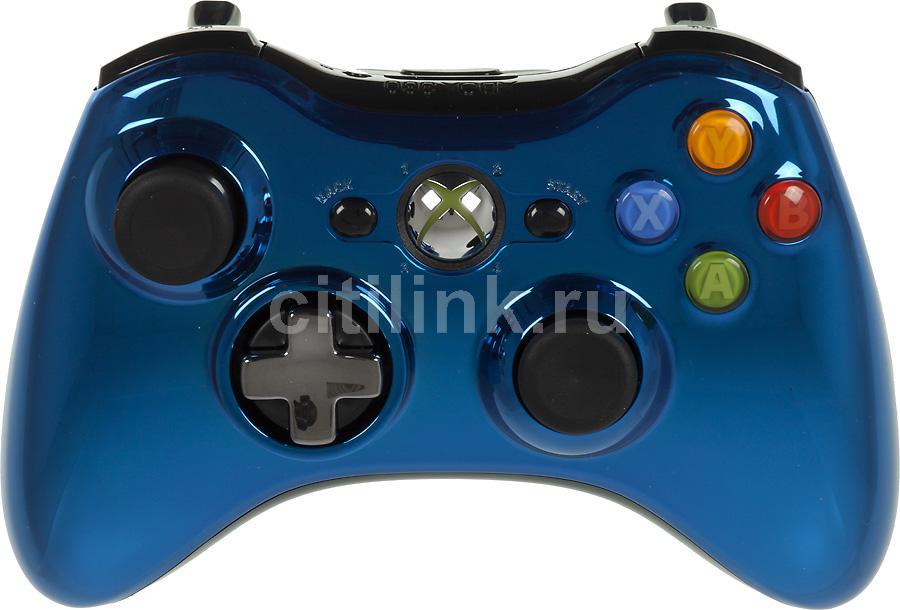 Геймпад MICROSOFT 43G-00024, для  Xbox 360, синий