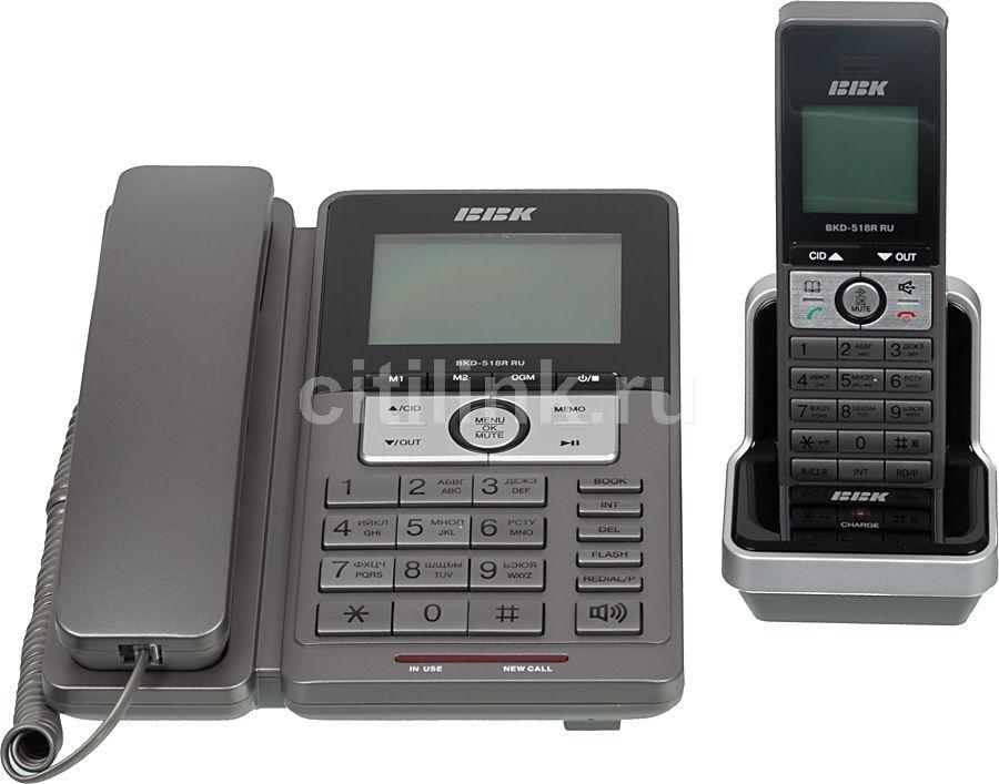 Радиотелефон BBK BKD-518RRU,  серебристый и черный [bkd-518r ru s]