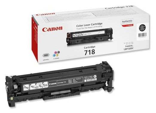 Картридж CANON 718BK черный [2662b002]