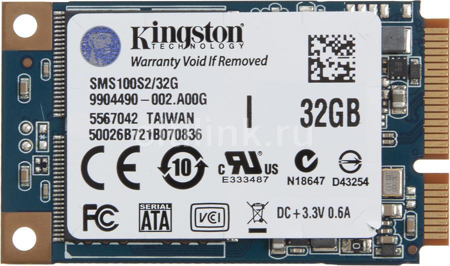 Накопитель SSD KINGSTON SMS100S2/32G 32Гб, mSATA, SATA II