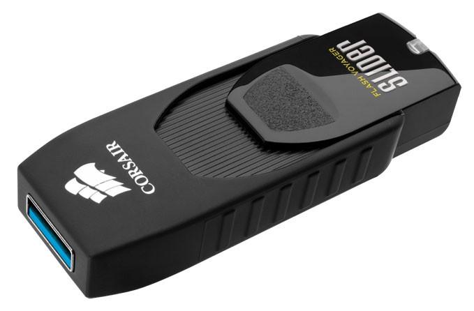 Флешка USB CORSAIR Voyager Slider 8Гб, USB3.0, черный [cmfsl3-8gb]