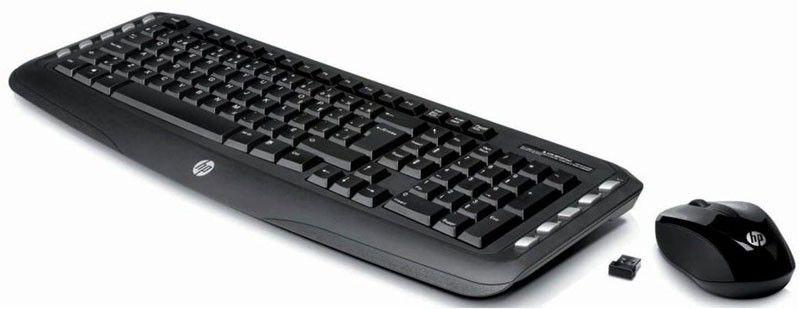 Комплект (клавиатура+мышь) HP LV290AA, USB, беспроводной, черный