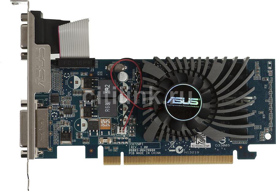 Видеокарта ASUS GeForce 210,  210-1GD3-L,  1Гб, DDR3, Low Profile,  Ret