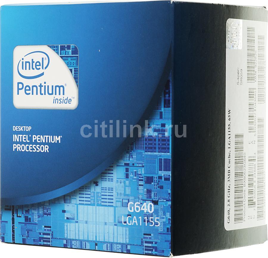 Процессор INTEL Pentium G640, LGA 1155 BOX [bx80623g640    s r059]