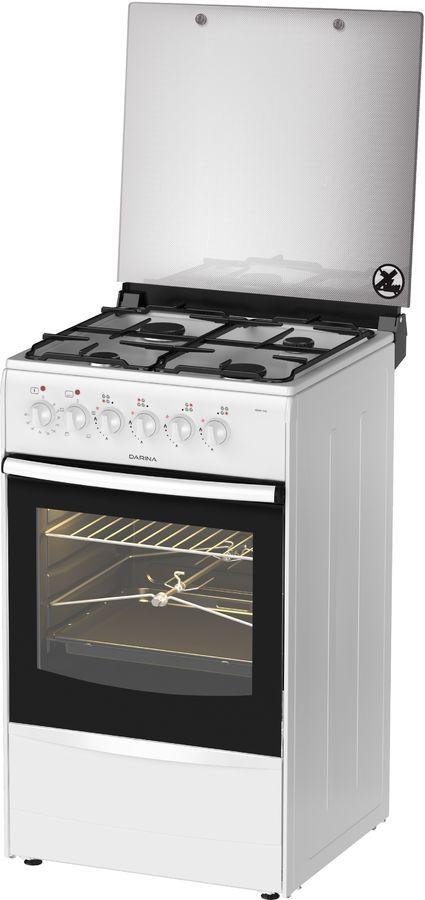 Газовая плита DARINA 1B KM 441 306 W,  электрическая духовка,  белый