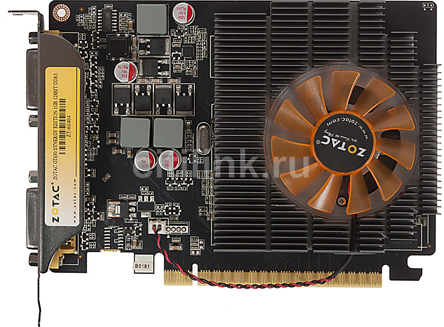 Видеокарта ZOTAC GeForce GT 630 Synergy, ZT-60404-10L,  1Гб, DDR3, Ret