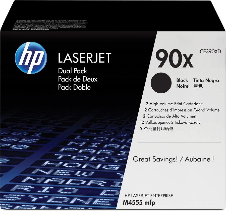 Картридж (двойная упаковка) HP 90X, черный [ce390xd]